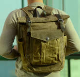 EAZO Contrast Pocket Waxed Canvas Backpack