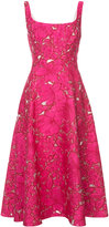 Lela Rose floral embroidery dress - women - Silk/Polyamide/Polyester - 6