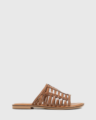 Wittner - Women's Brown Strappy sandals - Ilex Leather Slip On Flat Sandals - Size One Size, 36 at The Iconic