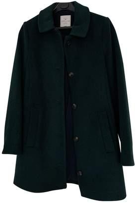 Cyrillus Green Wool Coat for Women
