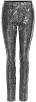 Saint Laurent Sequin-embellished Cotton Trousers