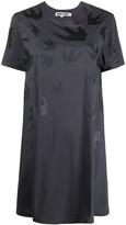 McQ flared swallow-print T-shirt dress