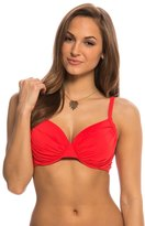 Bleu Rod Beattie Gilt Trip Solid Shirred Underwire Molded Bikini Top (D Cup) 8140030