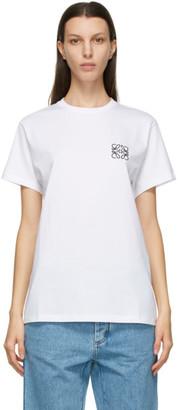Loewe White and Black Anagram T-Shirt