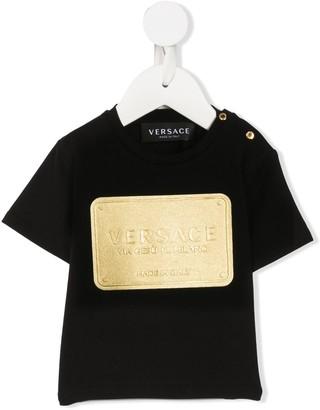 Versace Kids embossed logo T-shirt