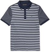 Michael Kors - Slim-fit Striped Cotton-jersey Polo Shirt