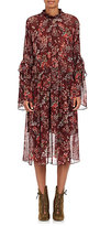 IRO Women's Aamito Floral Chiffon Dress-BURGUNDY