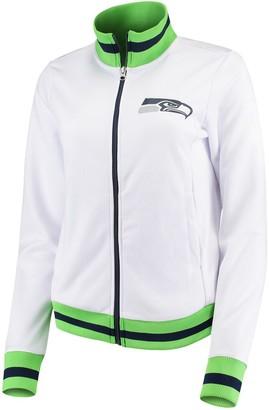 G Iii Women's G-III 4Her by Carl Banks White Seattle Seahawks Field Goal Track Jacket