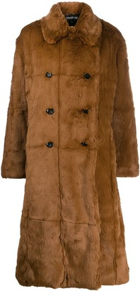 Tom Ford Double-Breasted Faux Fur Coat