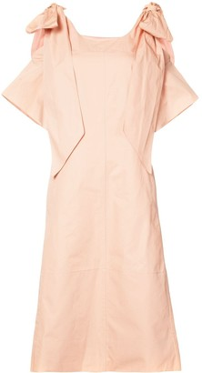 Chloé Ribbon Sleeve Shift Dress