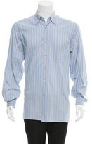 Z Zegna Striped Button-Up Shirt
