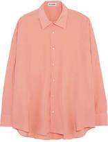 Jil Sander Oversized Silk Crepe De Chine Shirt - Pink