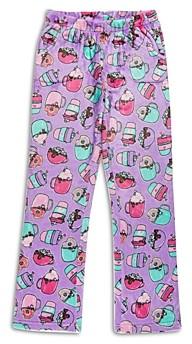 Candy Pink Girls' Hot Chocolate Print Fleece Pajama Pants - Big Kid