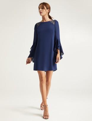 Halston Lace Insert Dress