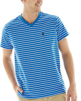 U.S. Polo Assn. USPA Striped Short-Sleeve V-Neck Tee