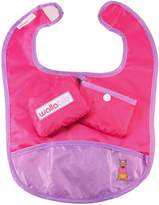 DM Merch Wallabib Pocket Bib for the Baby on the Go - Mess Free Travel Pouch (Magenta) by Wallabib