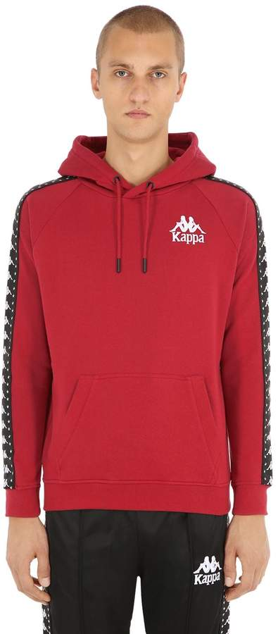 Kappa Cotton Sweatshirt Hoodie W/ Logo Bands