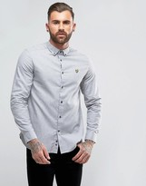 Lyle & Scott Brushed Chambray Shirt Grey Marl