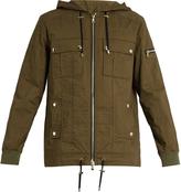 Balmain Zip-through cotton hooded jacket