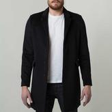 DSTLD Mens Long Wool Coat in Black