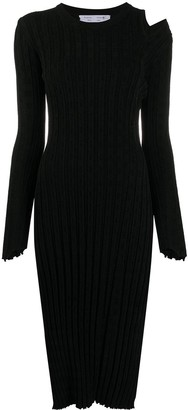 Proenza Schouler White Label Cut-Out Ribbed Dress