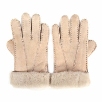 Mosa Womens Winter Sheepskin Fold Back Cuff Gloves