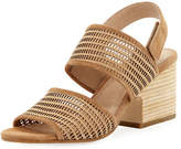 Eileen Fisher Finn Suede Perforated Sandal