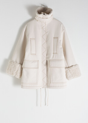 And other stories Oversized Faux Shearling Parka