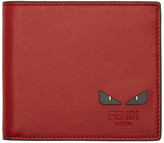 Fendi Red 'Bag Bugs' Wallet