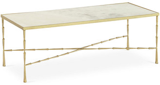 Global Views Spike Coffee Table with White Marble