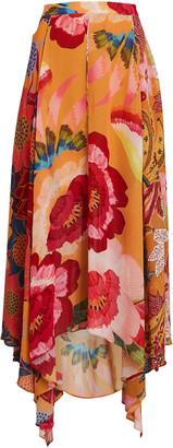 Farm Rio Banana Floral Midi Skirt