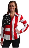 Scully Flag Shirt Women's Long Sleeve Button Up