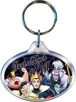 Disney Fun to be Bad Villains Queen of Hearts Cruella Maleficent Ursula Oval Keychain