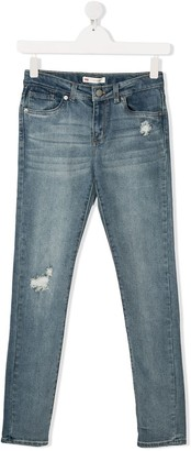 Levi's TEEN distressed jeans