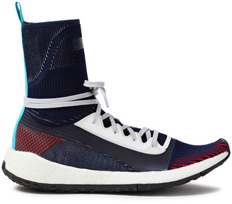 adidas by Stella McCartney Stretch-knit High-top Sneakers