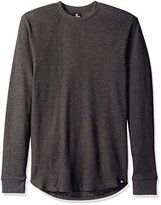 Southpole Men's Long Sleeve Basic Scallop Thermal with Side Zipper Details