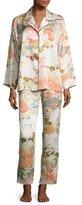 Natori Yuzen Printed Two-Piece Pajama Set, Antique