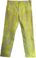 Roberto Cavalli Yellow Denim - Jeans Jeans for Women