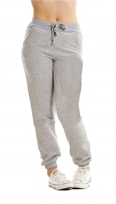 Parsa Fashions Womens Plain Fleece Full Length Trouser Girls Gym Pocketed Tie Joggers Jogging Cuffed Bottoms Ladies Small To X-Large