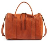 Madewell O-Ring Leather Satchel - Orange