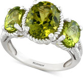 Effy Peridot Three-Stone Ring (4 ct. t.w.) in Sterling Silver