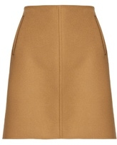 Tomas Maier Raw-edge wool-blend skirt