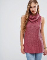 Hollister Rollneck Sleeveless Knit Jumper