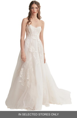 Willowby Harmony Strapless Lace & Tulle Ballgown Wedding Dress