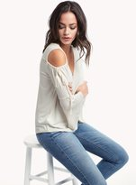 Ella Moss Bella V-Neck Cold Shoulder Top