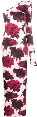 Alexandre Vauthier Single-Sleeve Maxi Dress