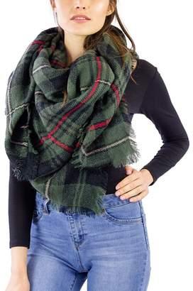 Just Jamie Plaid Blanket Wrap Shawl