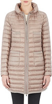 Moncler Women's Down-Quilted Bogue Coat-BROWN