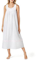 Eileen West Floral-Embroidered Ballet Nightgown