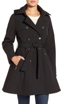 Ivanka Trump Water Resistant Hooded Double Breasted Coat